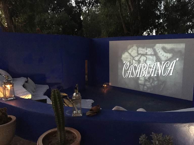 Outside cinema in Baoussala
