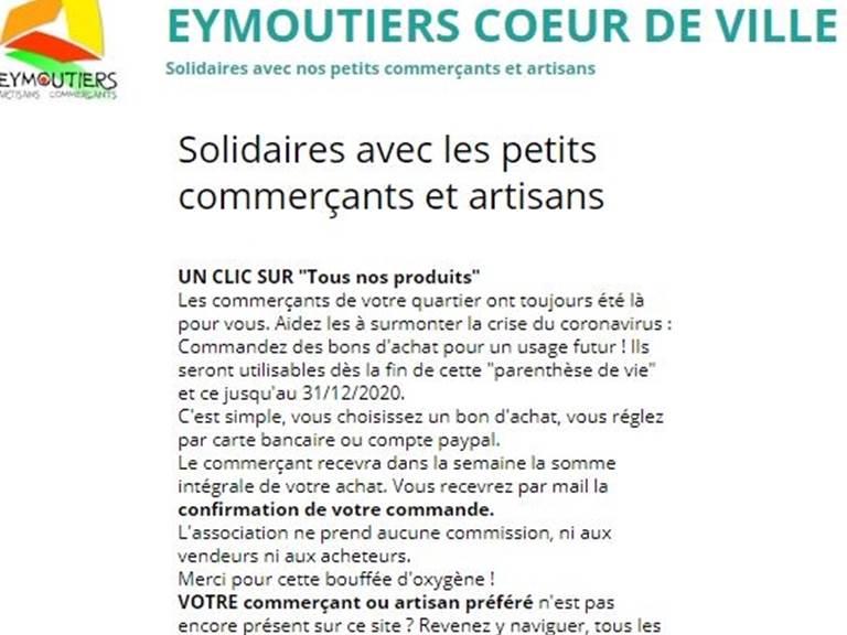 Solidaires Eymoutiers Coeur de ville