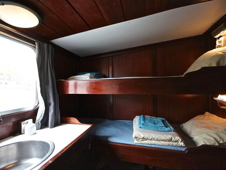 cabines twin confort sur la péniche