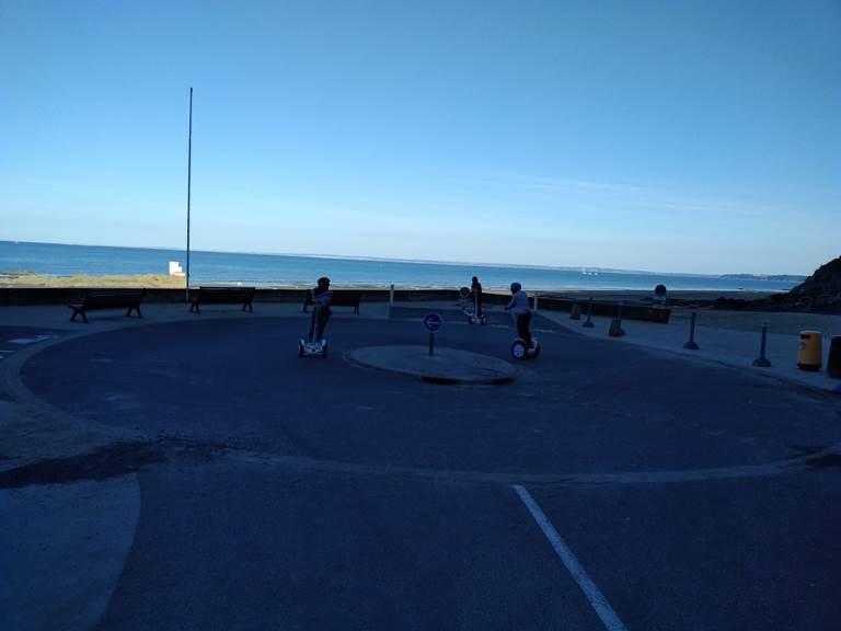 Balade gyropode , plage des Godelins.092018