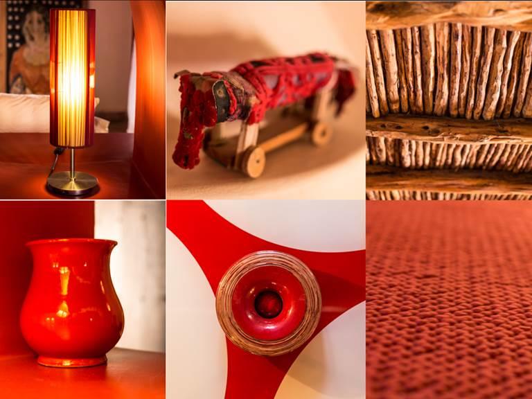 riad Baoussala Essaouira - chambre rouge - détails et ambiance