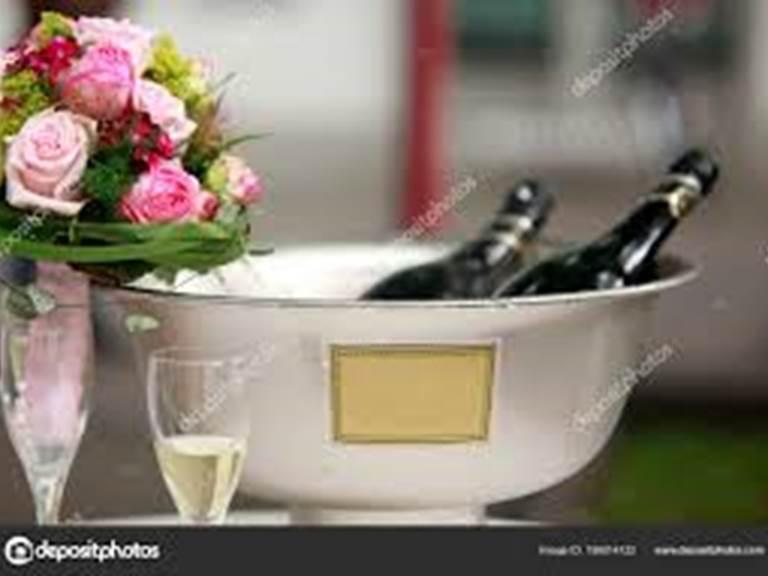 Fleurs et champagne