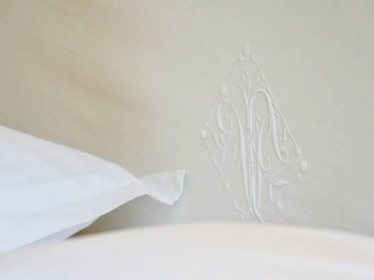 Détail dans la chambre d'hôtes Verveine à la Rougeanne à Carcassonne, Canal du Midi en Pays Cathare