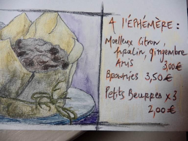 Carte du Salon de thé l'Ephémère - Limoges
