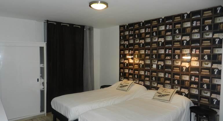 chambre double ou litsjumeaux