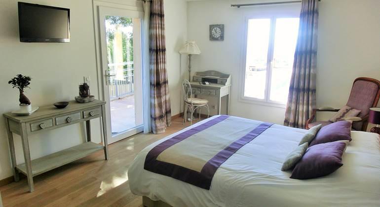 Chambre double Azur vue mer à Bandol dans le Var