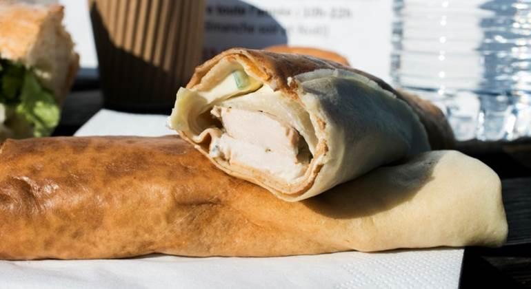 Le Wrap de poulet du Jardin d'Anouck