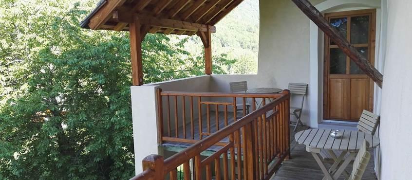 Balcon des chambres
