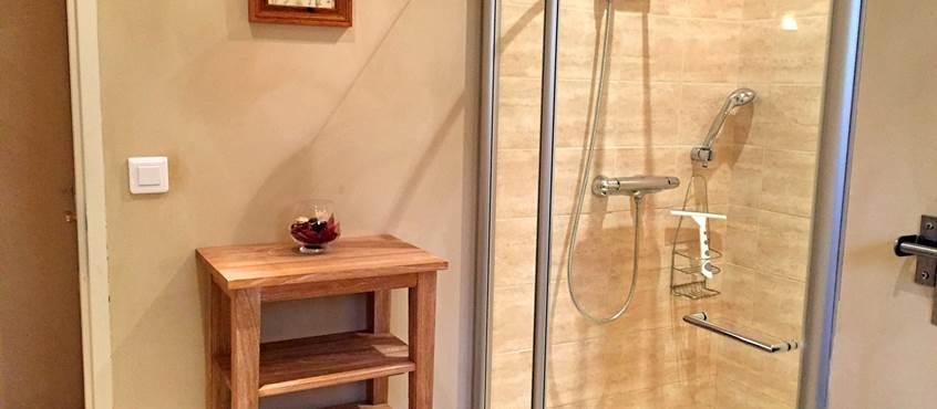 Salle d'eau avec une grande douche à l'italienne