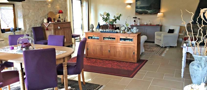 Séjour avec salon et salle à manger
