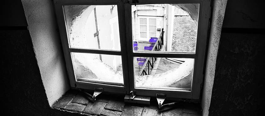 Lucarne vers terrasse