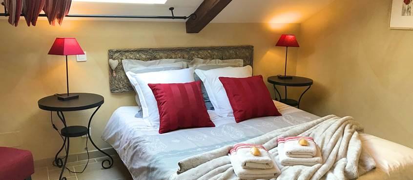 Chambre Roses de Cahors dans une maison de charme