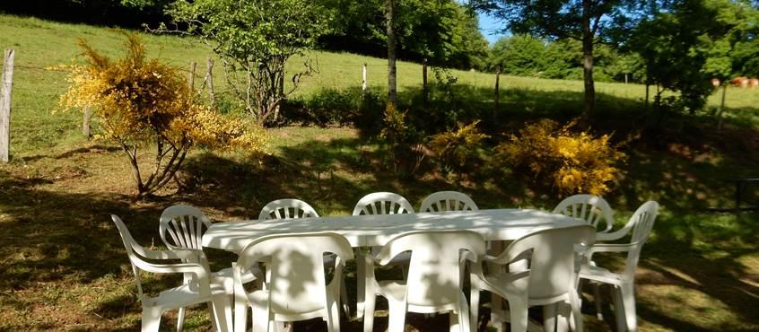La table de jardin