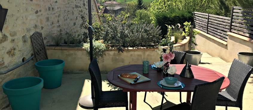 Appartement d'hôtes La Grangette avec vue sur la campagne