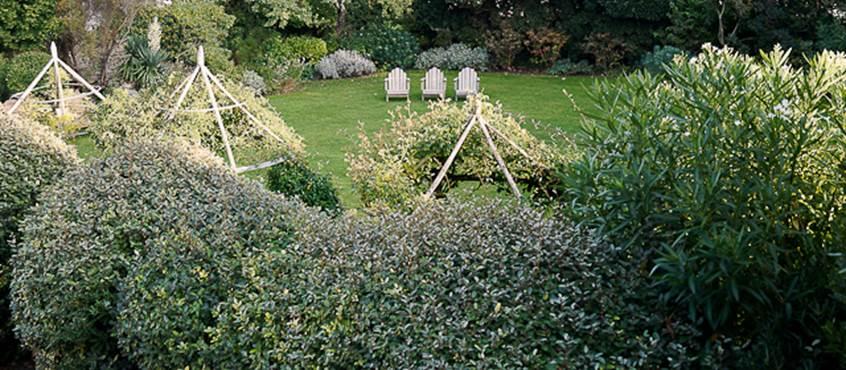 Vue des suites sur le jardin