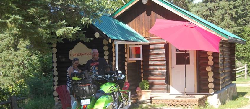 Moto au Domaine le Bostonnais à la Tuque en Haute Mauricie