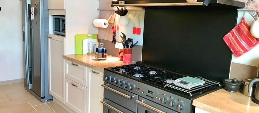 Piano de cuisson avec 2 fours et 5 feux,  Côté Granges