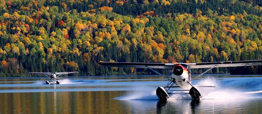 Domaine le Bostonnais, hydravion chez Aviation la Tuque, en Mauricie, Canada