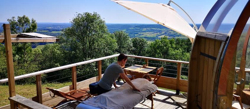 Massage terrasse Domostella Lourd