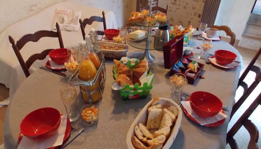 Domaine du Gué du Roi Chambre d'Hôtes Petit Déjeuner