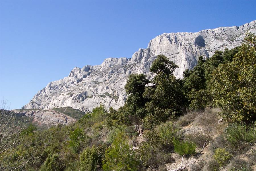 Aix en Provence la montagne Sainte Victoire