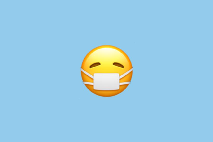 Emoticône avec masque