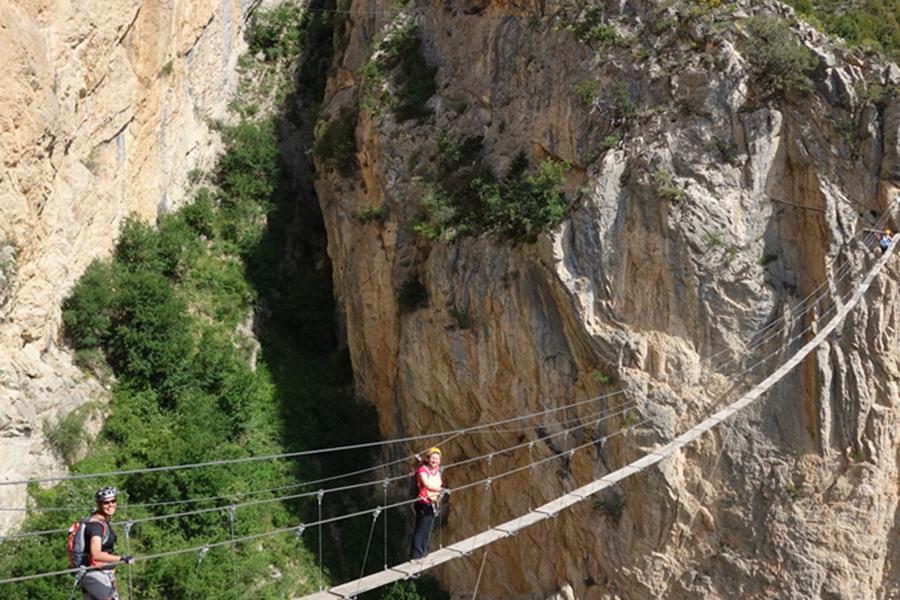 Via ferrata dans les Alpes-de-Haute-Provence