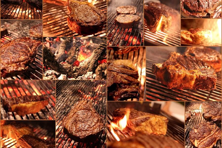 Les viandes, la spécialité de notre Chef Jules, une véritable passion - photo dégustation de différentes viandes bovines - Le Ranch des Lacs
