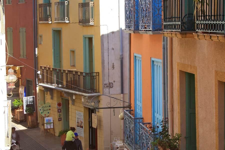 vue de l'appartement- residence st vincent collioure