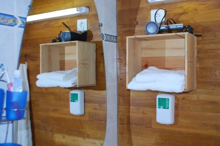 Chambre L'R de Rien accessoires salle d'eau produits d'accueil Ecolabel