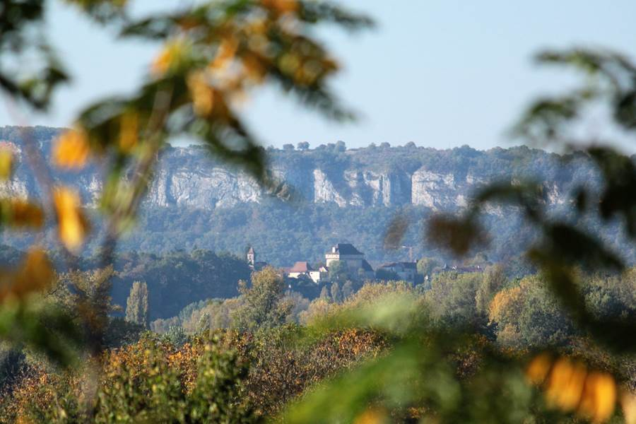 La Vue depuis le Broual sur le saut de la mounine