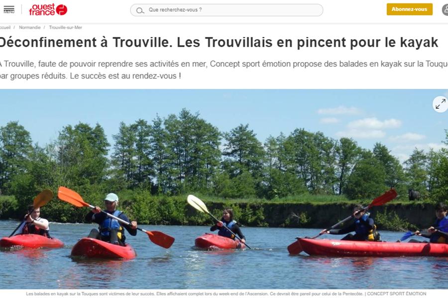 Concept Sport Émotion _ Article Ouest France _ Descente de la Touques