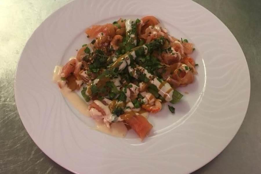 Salade asperges et saumon