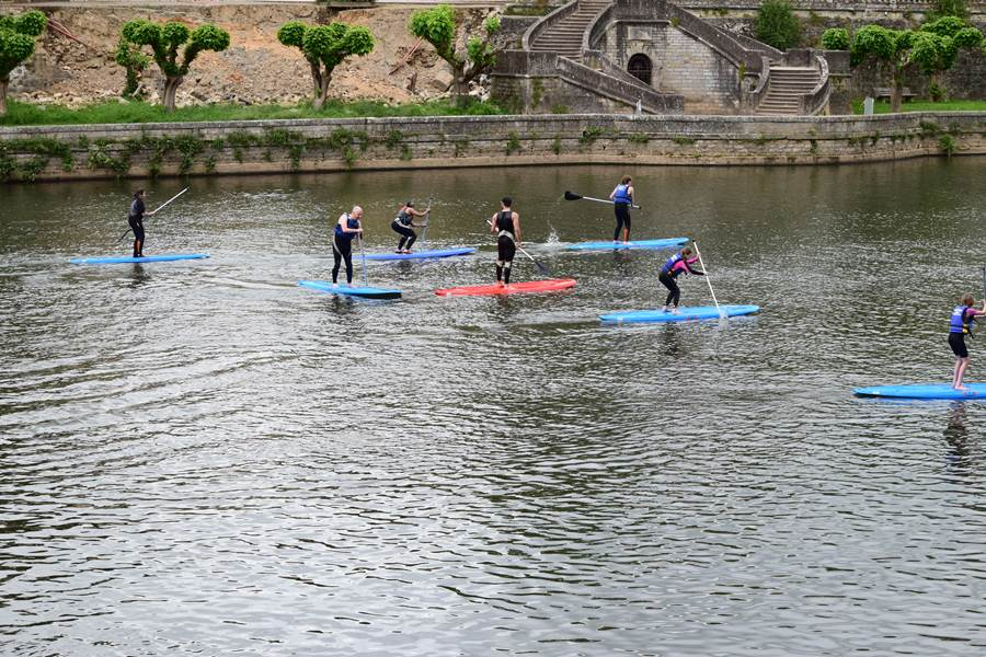 Initiation au paddle en groupe