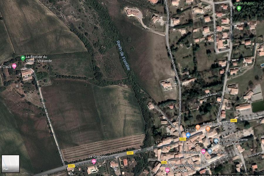 Plan d'accès à la Bastide du Claus - Vitaverde
