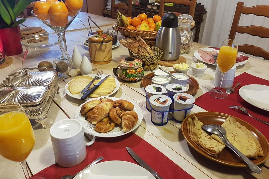 Petit déjeuner gourmand campagnard  Le Ranch des Lacs 87120