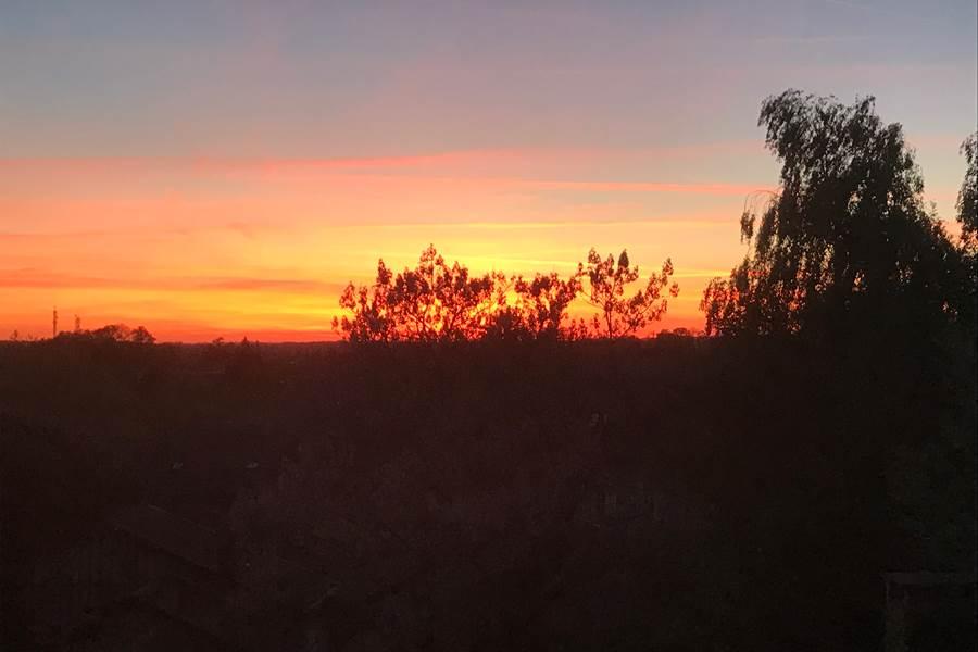 coucher de soleil au Jardin des Lys, nouvelle-aquitaine, célibataire, famille monoparentale