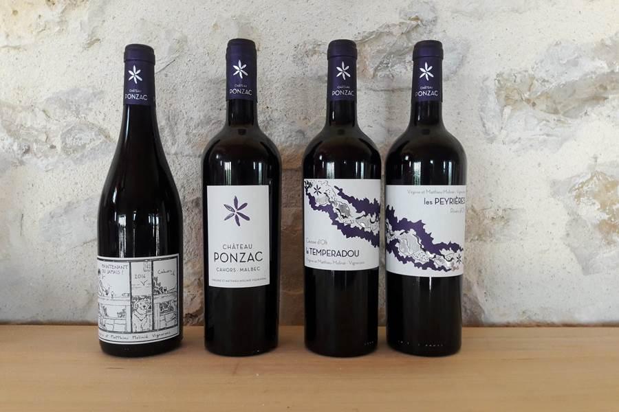 Les vins du Château Ponzac