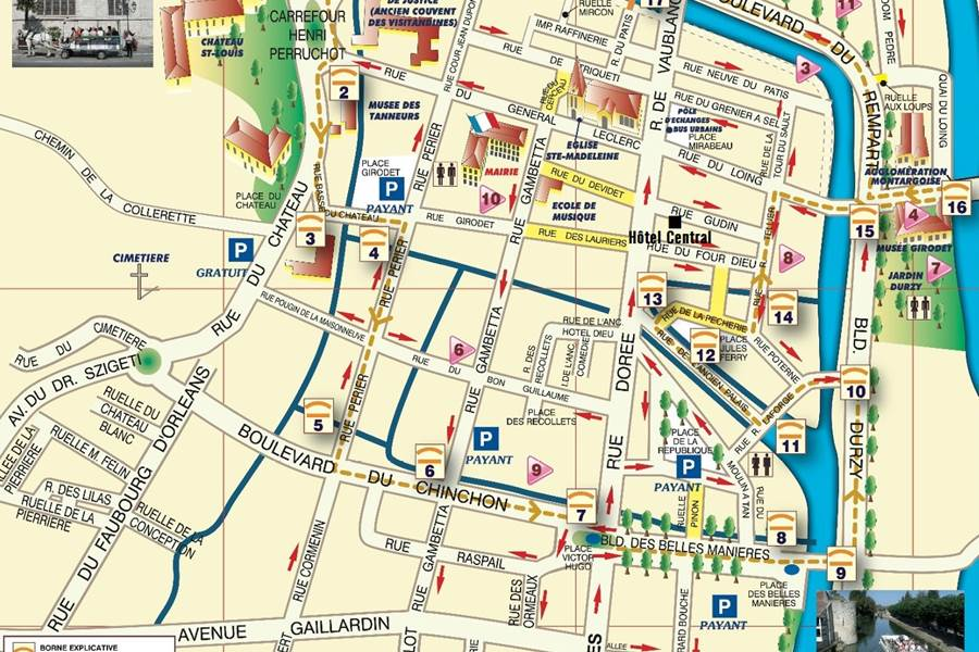 Plan centre ville