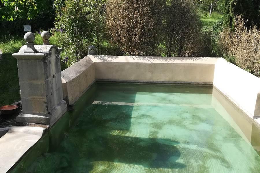 Mieux qu'aux Caraïbes  notre bassin alimenté par la source qui coule directement de la montagne de Lure !