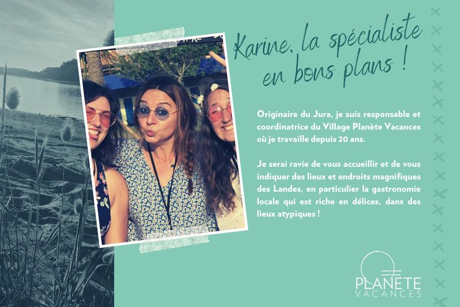 présentation team village planete vacances - Karine