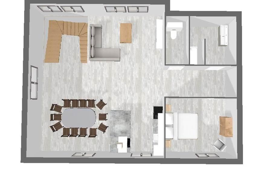 Plan 3D 1er étage