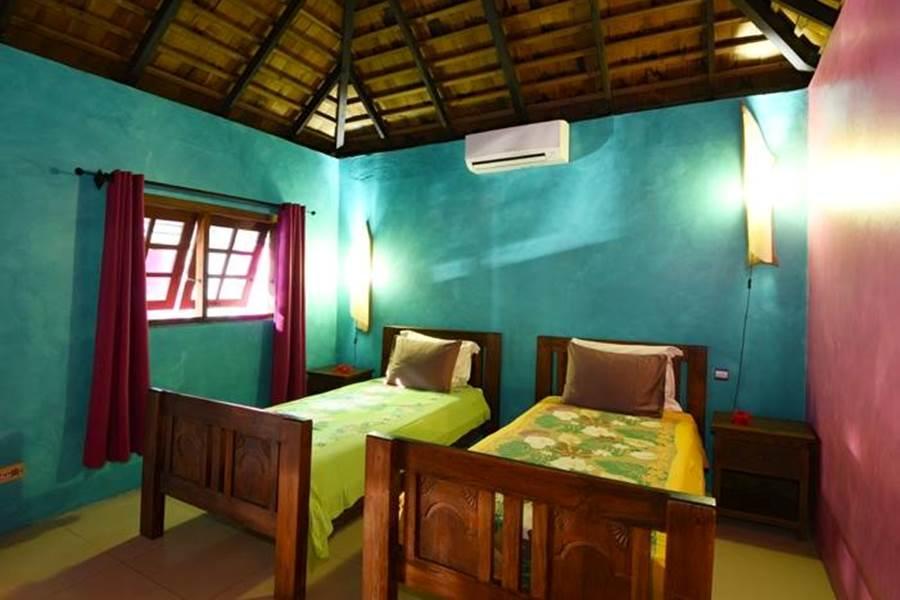Villa Hotu chambre lits simples