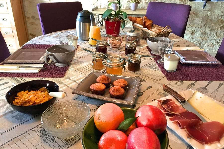 Copieux petit déjeuner maison