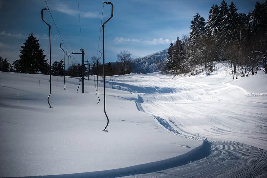 piste de ski du frenz en face de l'hotel