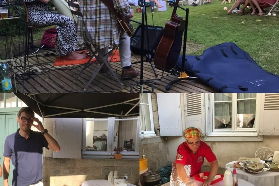 musique chaise longue concert traiteur jardin nouvelle-aquitaine été maison d'hôtes