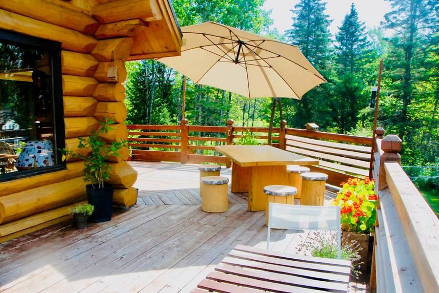 la terrasse pour déjeuner