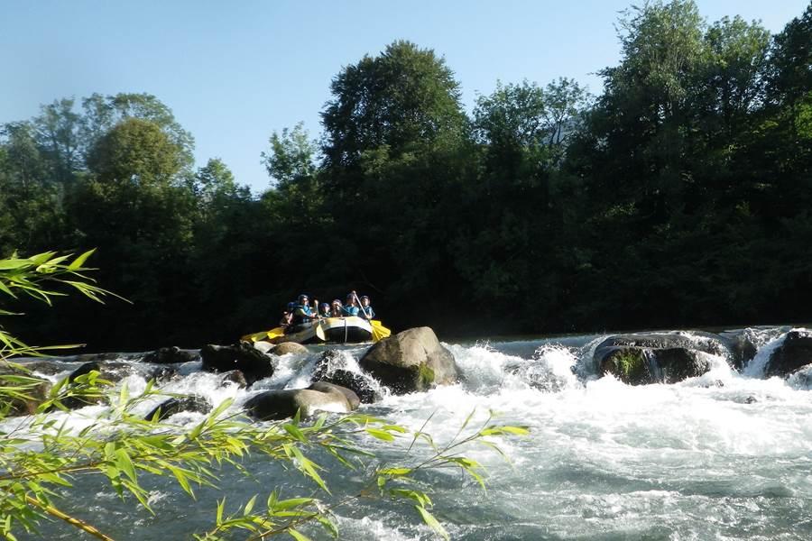sensation rafting evasi'eau Argeles Gazost