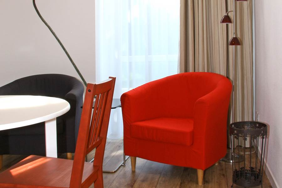 Vue salon appartement Coquelicot