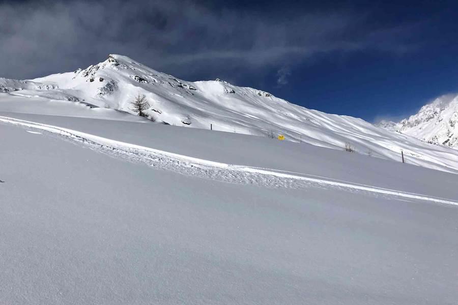 Ski Peuf Day à Pelvoux vue la Blanche